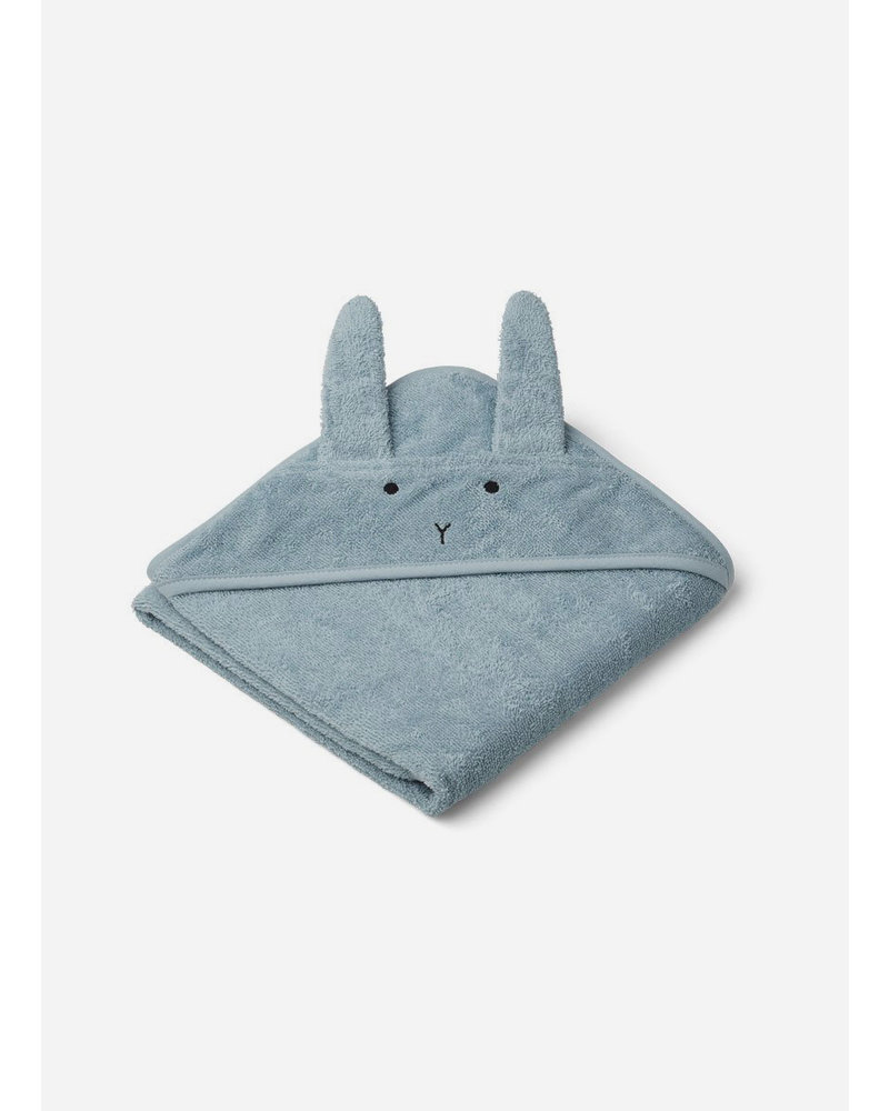 Liewood albert hooded towel rabbit sea blue