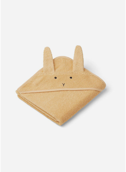 Liewood albert hooded towel rabbit smoothie yellow