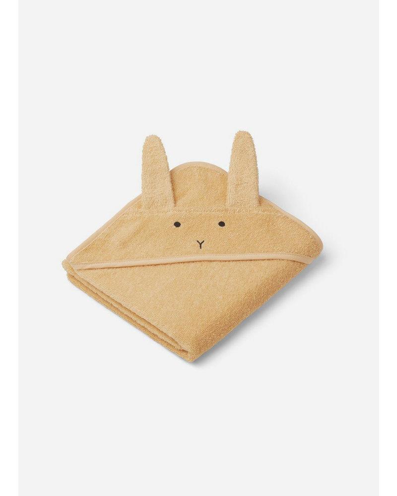 Liewood albert hooded towel rabbit smoothie yellow