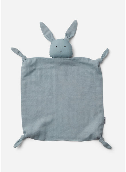 Liewood agnete cuddle cloth rabbit sea blue