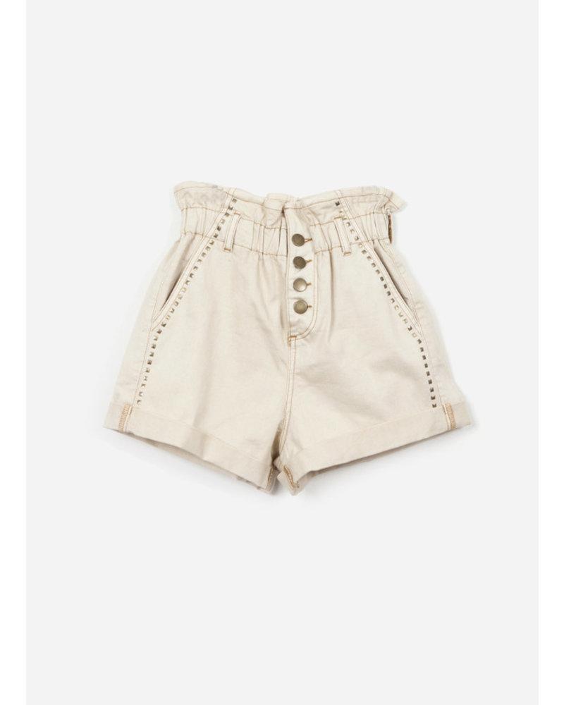 Indee garfield denim shorts - ice