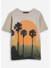 Finger in the nose kid sand dip & dye crew neck t-shirt