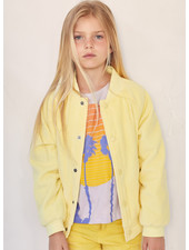 Finger in the nose prentender pale yellow cord varsity jacket
