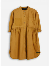Finger in the nose swing caramel ss shirt dress