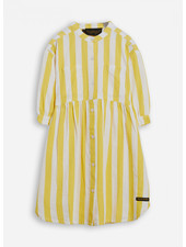 Finger in the nose swing yellow stripes ss shirt dress