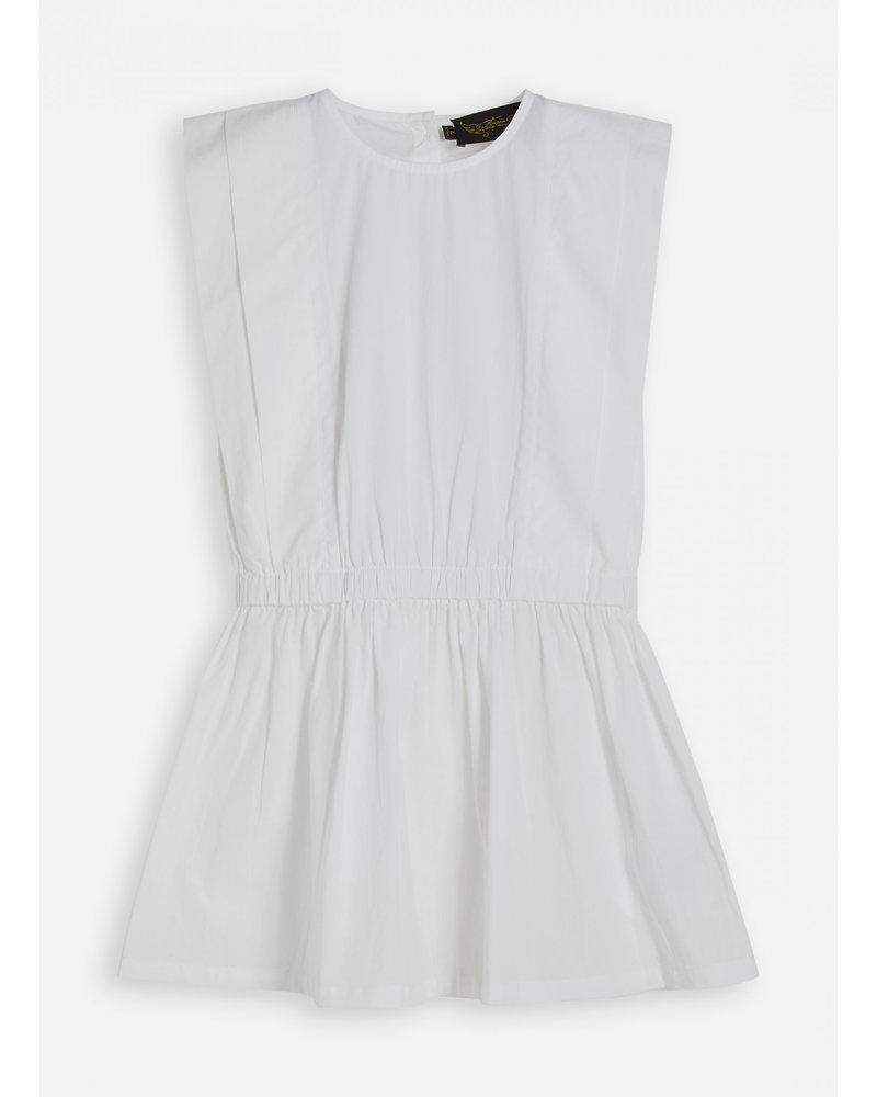 Finger in the nose fanny white sleeveless dress