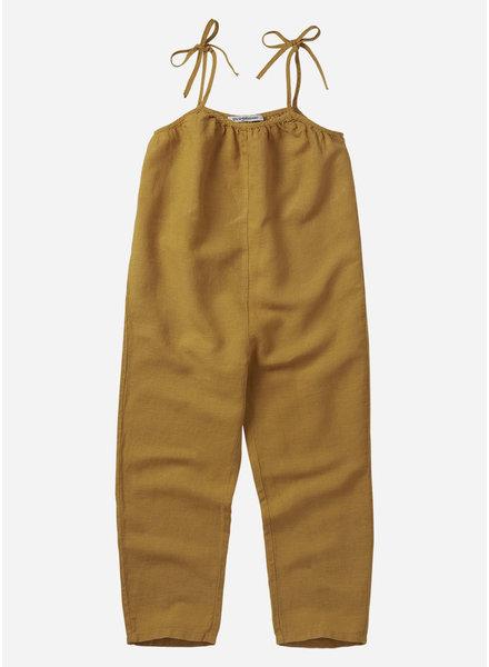 Mingo linen dungaree spruce yellow