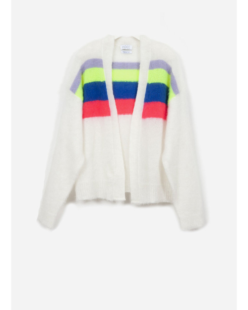 Indee garbo knit cardigan - ice