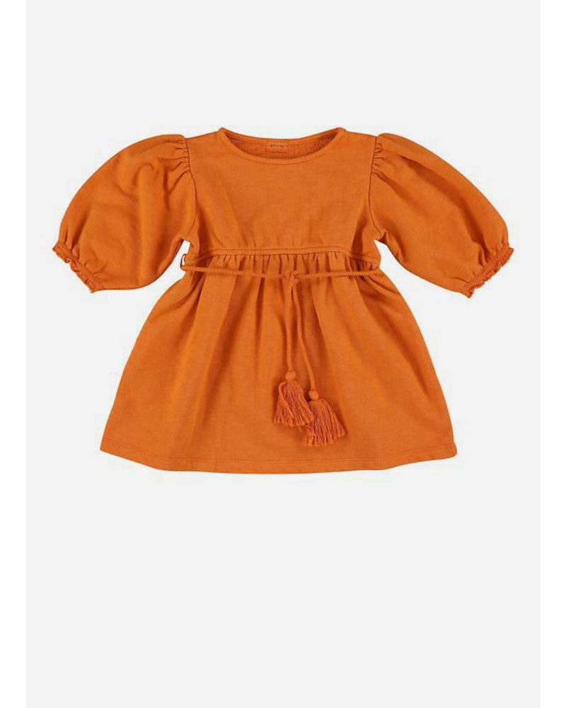 Morley laos tassle orange girls dress