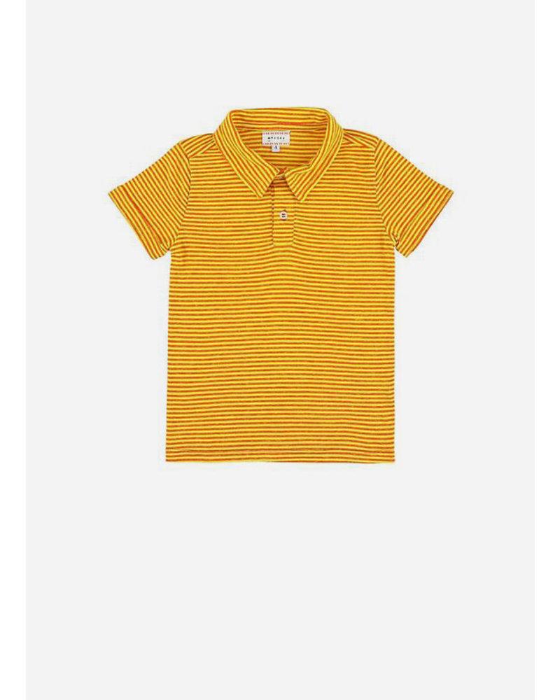 Morley lance stripe yellow boys shirt