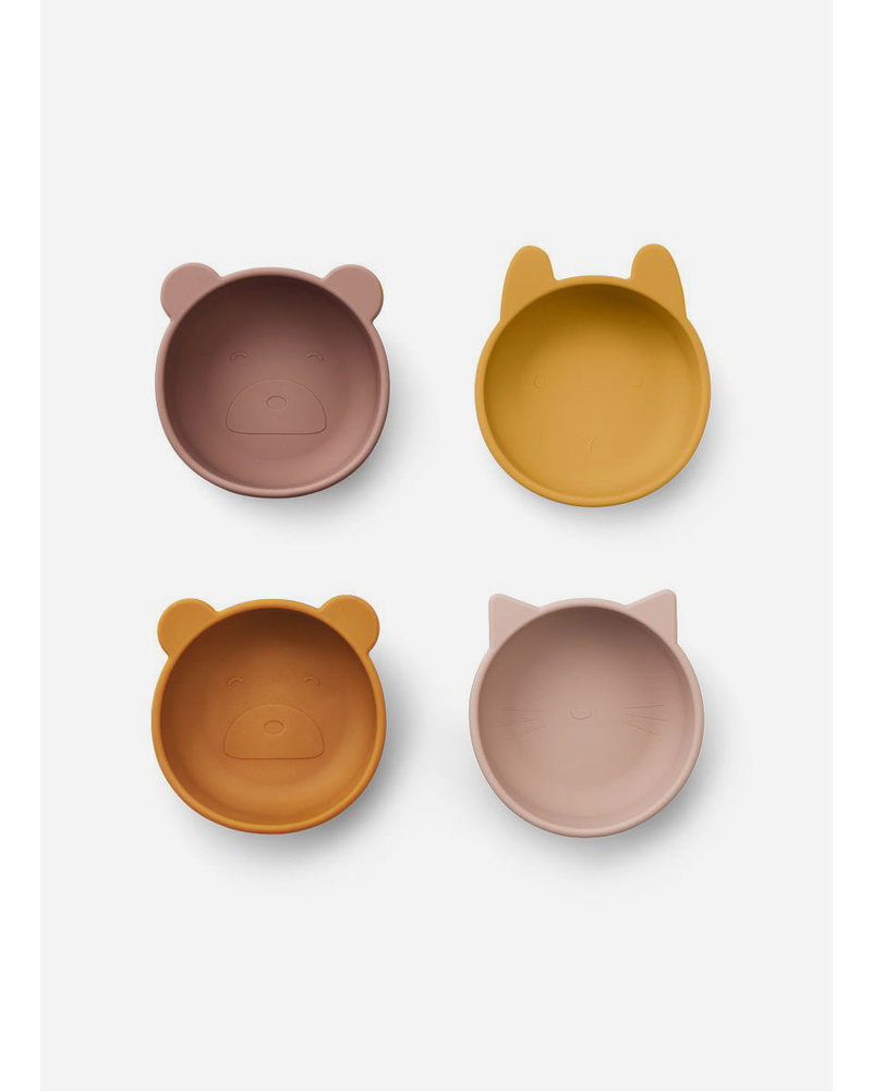 Liewood iggy silicone bowls rose mix