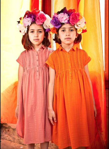 Morley lambada myrtille cantaloupe dress