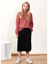 Designer Remix Girls franki yoke sweater - dusty red