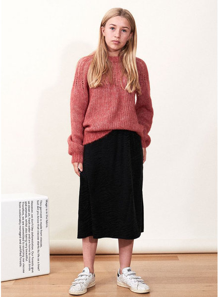 Designer Remix Girls franki yoke sweater - dusty red
