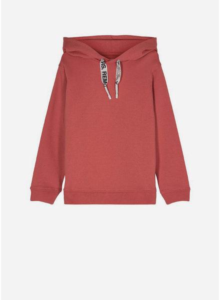 Designer Remix Girls parker string hoodie - dusty red