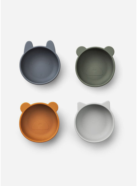 Liewood iggy silicone bowls blue mix