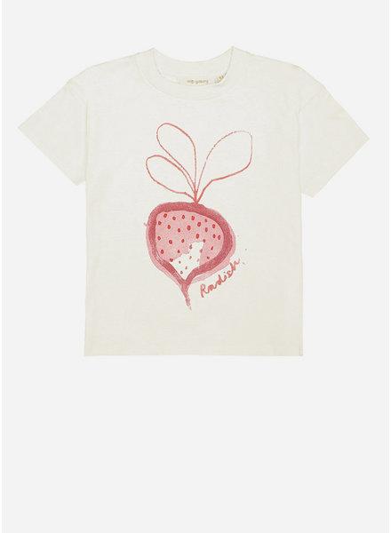 Soft Gallery dharma tshirt - gardenia radish