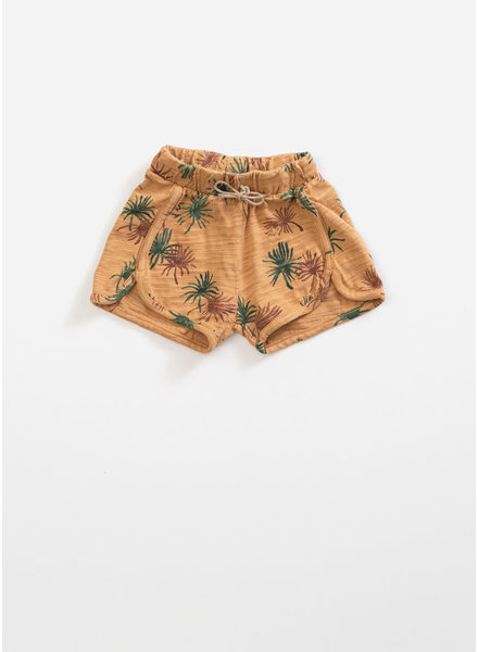 Play Up printed flame jersey shorts - raffia