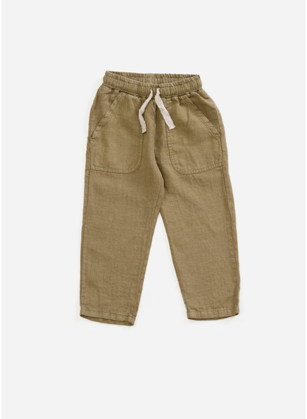 Play Up linen trousers - algae