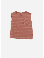 Play Up striped jersey sleeveless tshirt - old tile