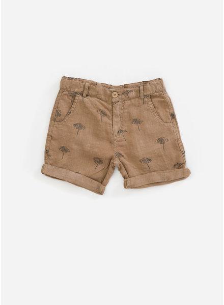 Play Up printed linen shorts - hemp