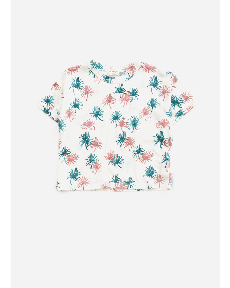 Play Up printed jersey sthirt - pearl