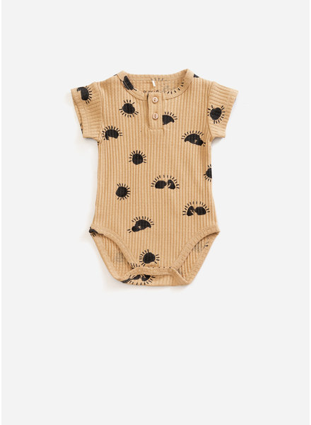 Play Up printed interlock bodysuit - raffia