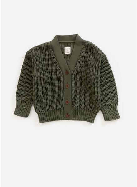Play Up knitted jacket - algae