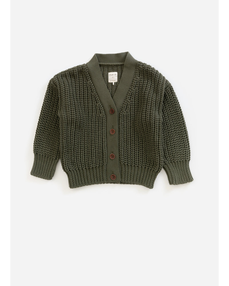 Play Up knitted jacket - algae