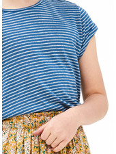 By Bar bar stripe top - indi grey