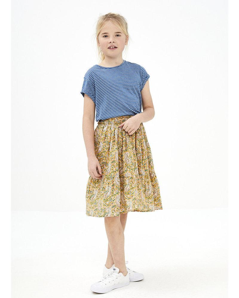 By Bar lien paisley skirt - straw