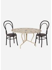 Maileg dining table set mini  anthracite