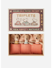 Maileg little baby mice triplets in matchbox