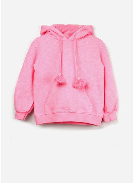 Morley linda tassle neonpink hoodie