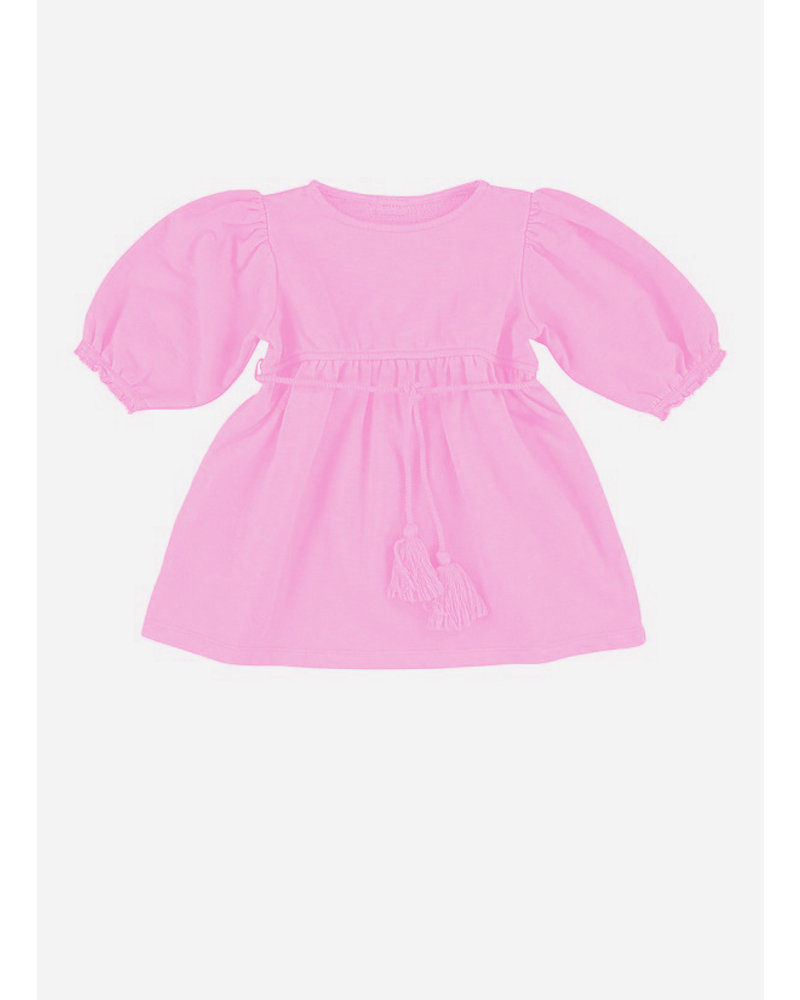 Morley laos tassle neon pink girls dress