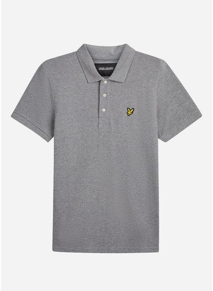 Lyle & Scott classic polo shirt vintage grey heather