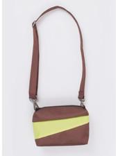 Susan Bijl recollection bum bag brown & fluo yellow