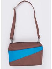 Susan Bijl recollection bum bag brown - sky blue