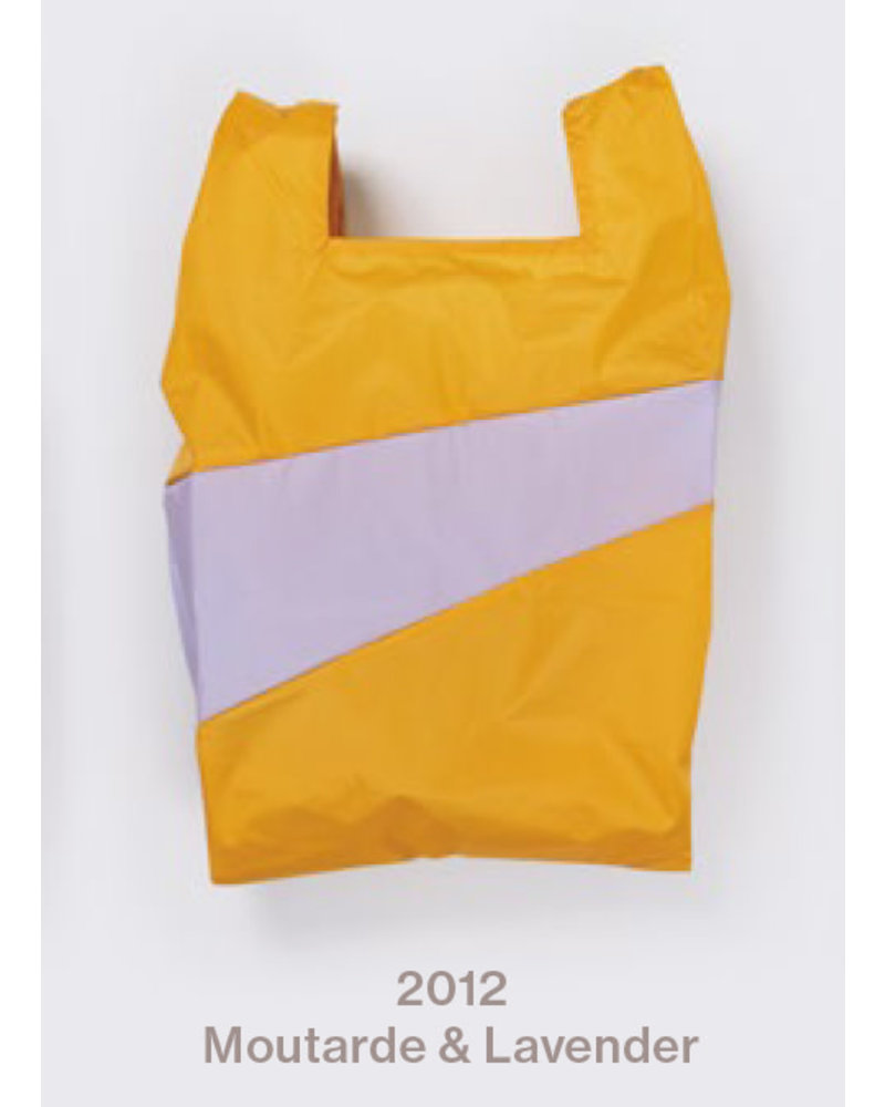 Susan Bijl recollection shopping  bag moutarde - lavender