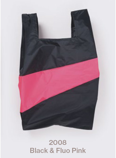 Susan Bijl recollection shopping bag black - fluo pink