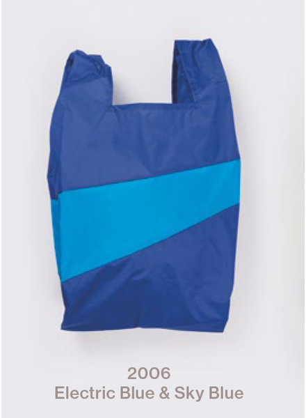 Susan Bijl recollection shopping bag electric blue - sky blue