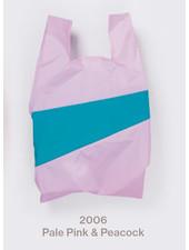 Susan Bijl recollection shopping bag pale pink - peacock