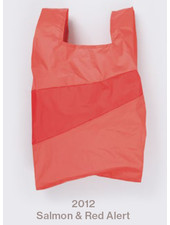 Susan Bijl recollection shopping bag salmon - red alert