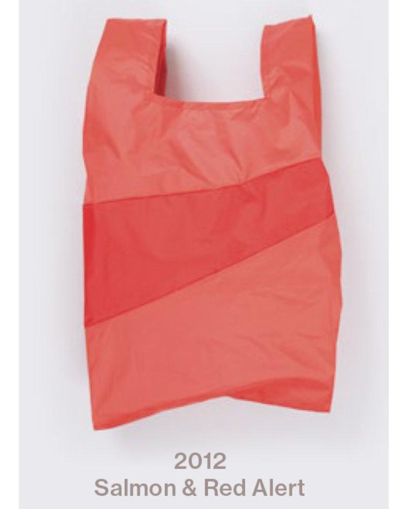 Susan Bijl recollection shopping bag salmon - red alert