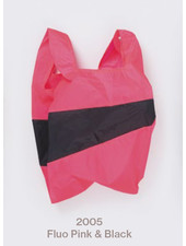 Susan Bijl recollection shoppingbag fluo pink - black