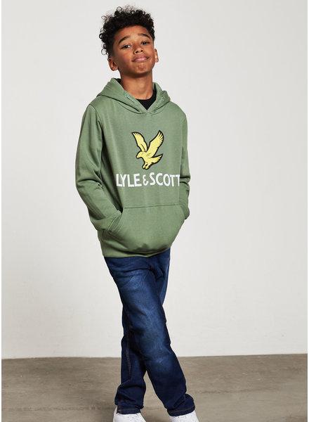Lyle & Scott lyle eagle logo hoodie hedge green
