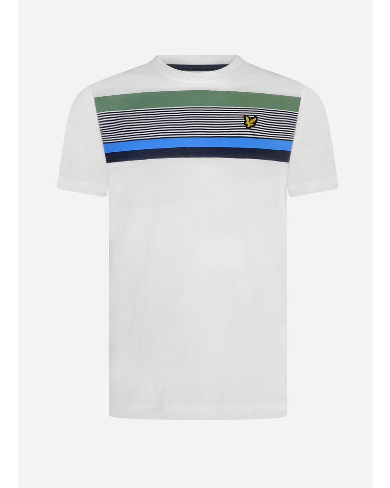 Lyle & Scott centre stripe t-shirt bright white
