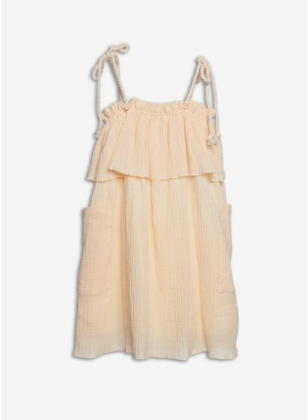 Wander & Wonder gaelle dress creme crinkle