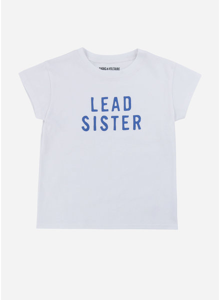 Zadig & Voltaire tee shirt manches blanc blue