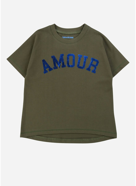 Zadig & Voltaire tee shirt manches army green